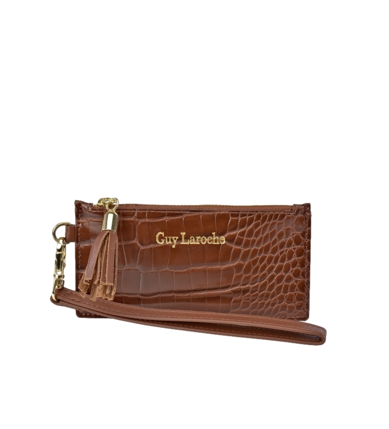 Comprar Guy Laroche Leather Cardholder with Handle GL-7499 Leather -14x7.5x1cm