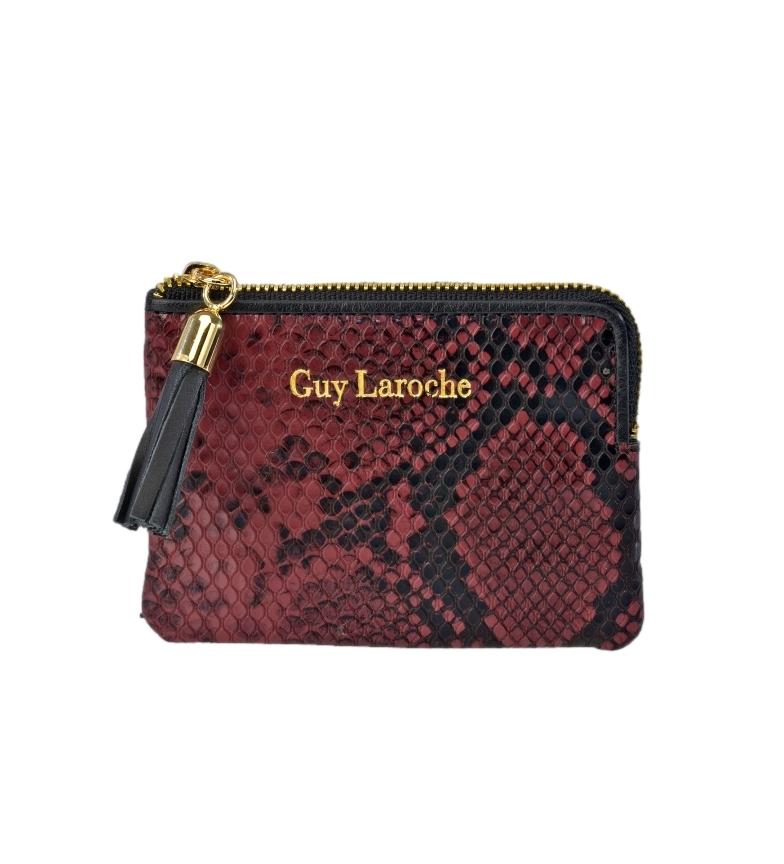 Comprar Guy Laroche Tarjetero de piel grabado serpiente GL-7460 burdeos -11x8.5x1cm-