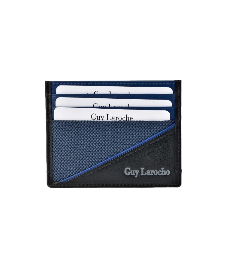 Comprar Guy Laroche Tarjetero plano de piel GL-3726 azul -9.5x7.5xcm-