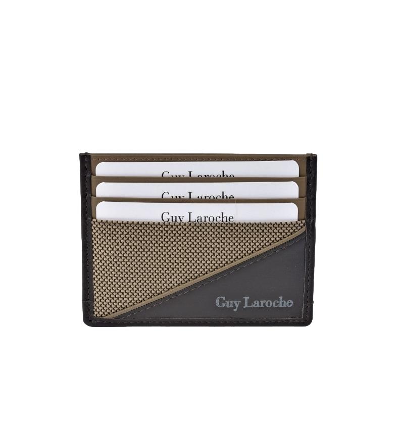 Comprar Guy Laroche Tarjetero plano de piel GL-3726 beige -9.5x7.5xcm-