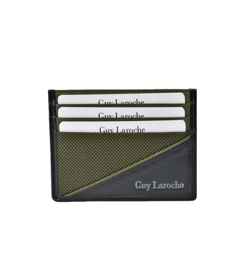 Comprar Guy Laroche Leather flat card holder GL-3726 green -9.5x7.5xcm