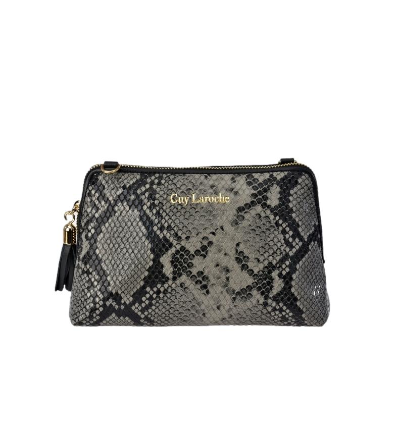 Comprar Guy Laroche Snake print leather bag GL-7465 grey -18x12x6cm