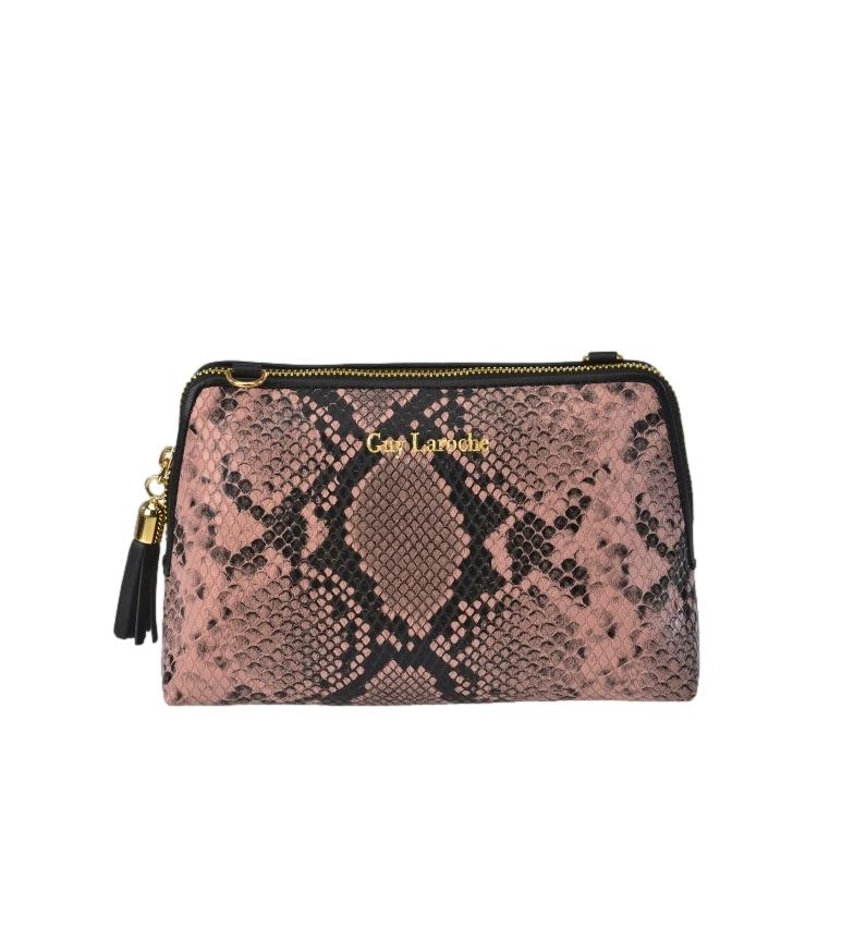 Comprar Guy Laroche Snake print leather bag GL-7465 pink -18x12x6cm
