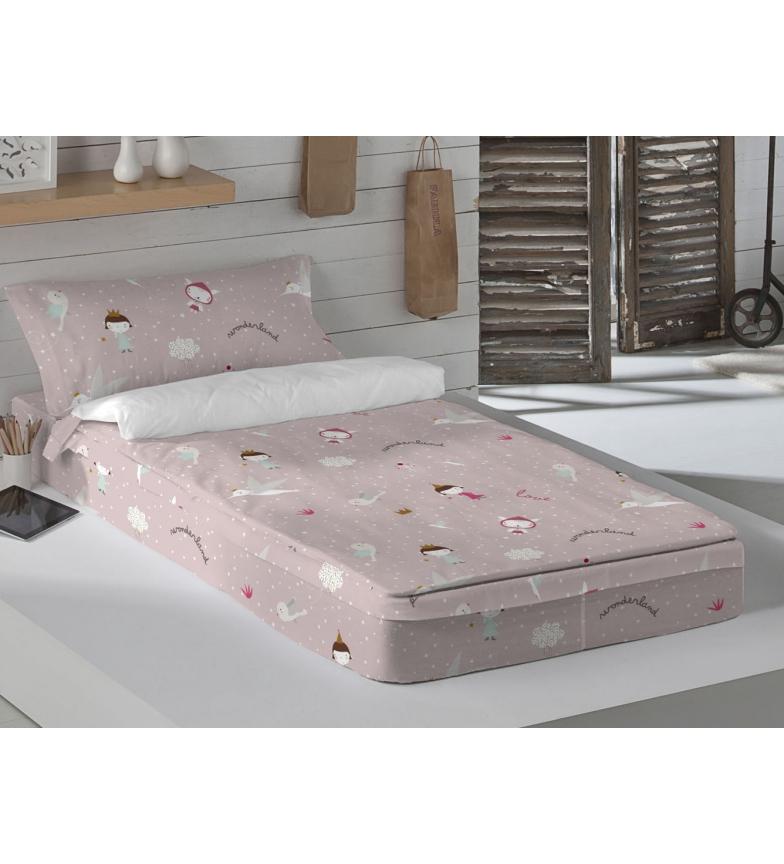 Comprar HACIENDO EL INDIO Wonderland Pink Duvet -Cama 90cm- Sem enchimento