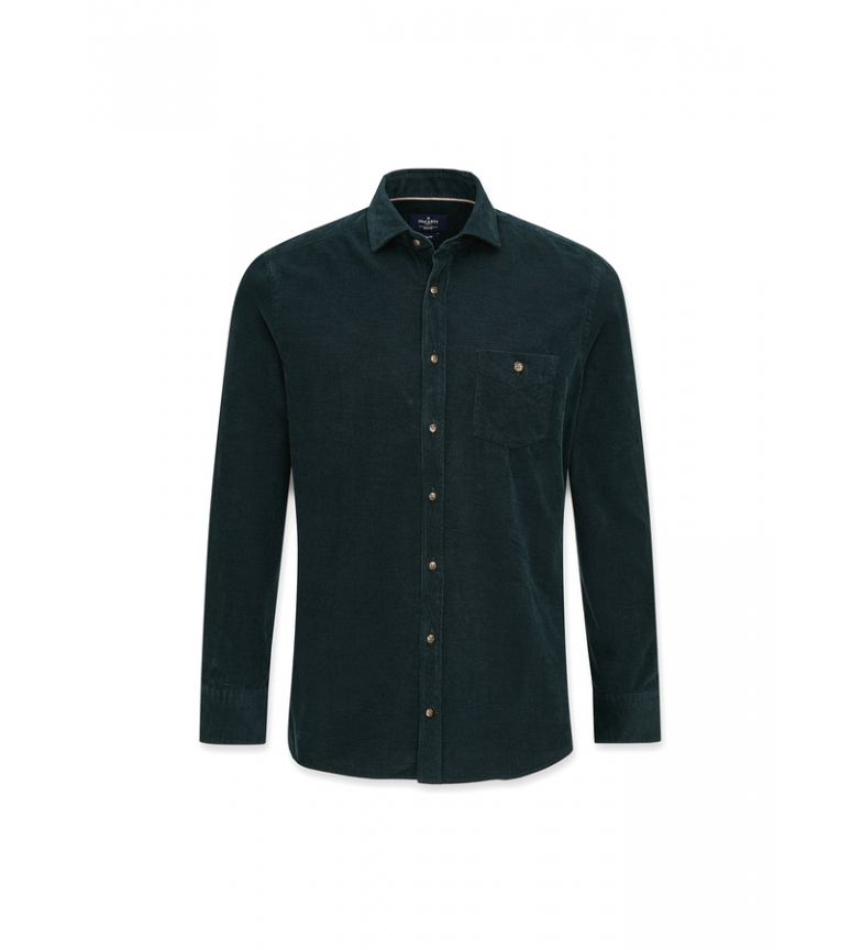 HACKETT Melange Baby Cord green shirt