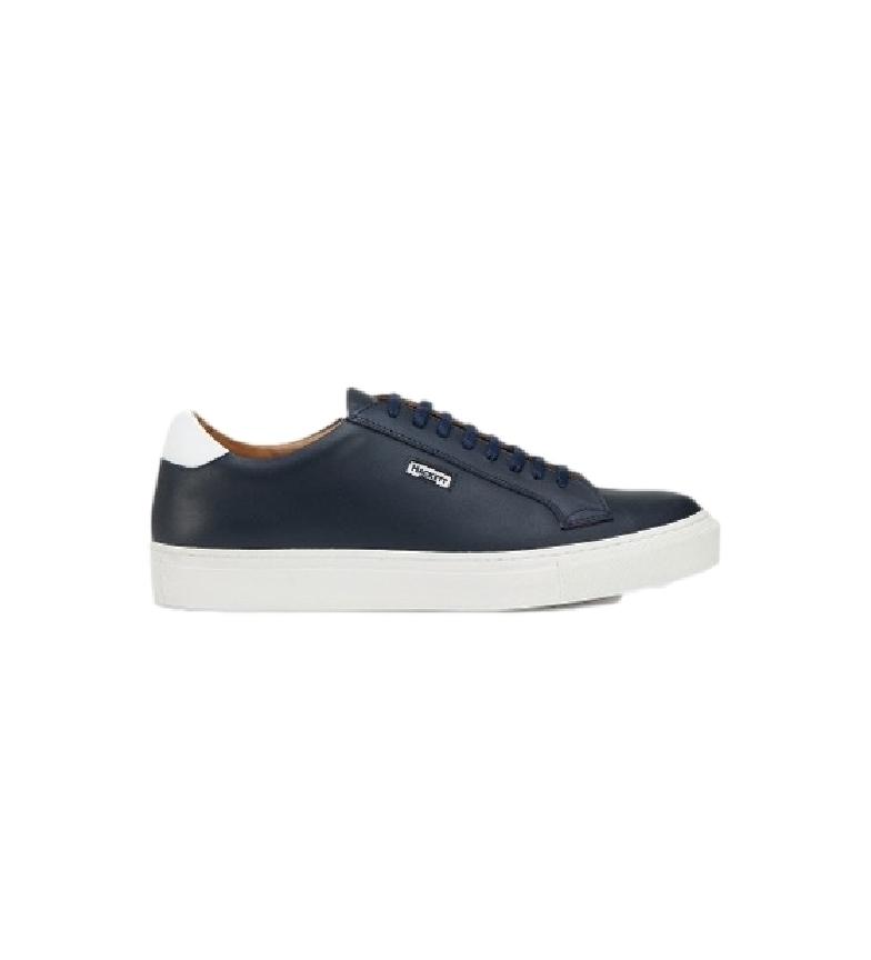 HACKETT Sneaker Charlton Cupsole in pelle blu navy