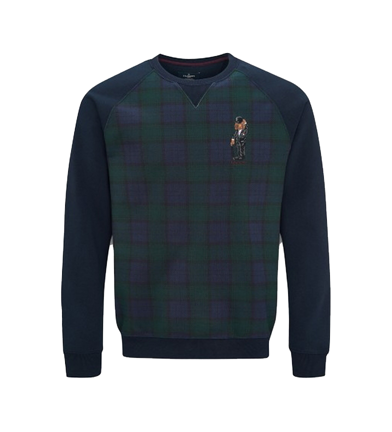 Comprar HACKETT Harry Tartan Crew green, navy sweater