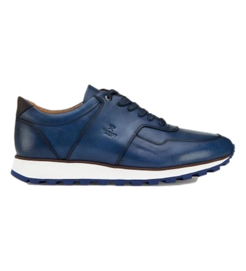 HACKETT Sneakers in pelle HMS21166 blu navy