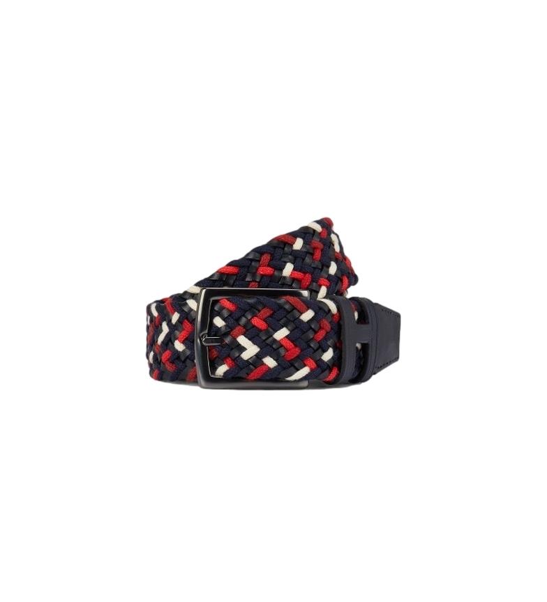 Comprar HACKETT Cintura in pelle rossa intrecciata