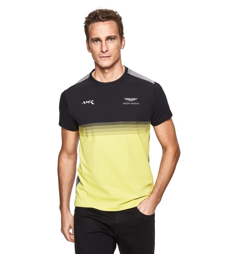 Comprar HACKETT Camiseta Multicolor con Estampado Lineal Efecto Degradado marino, amarillo