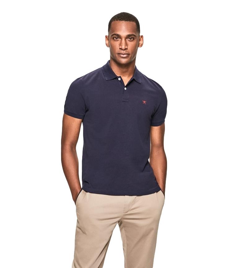 HACKETT Polo con Logo Fit Slim marino