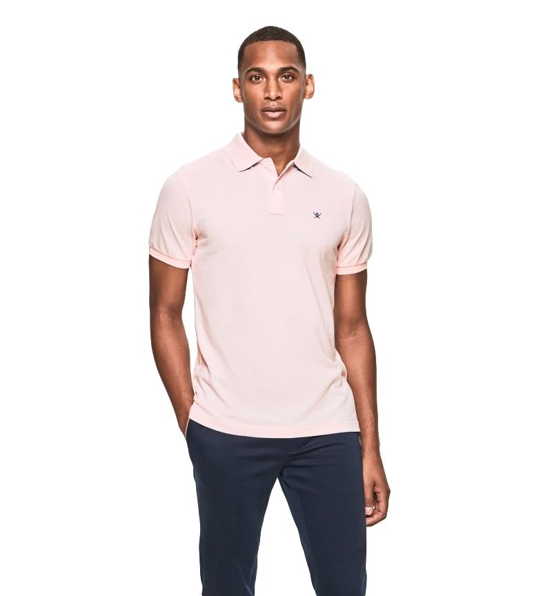 HACKETT Polo rosa con logo slim fit
