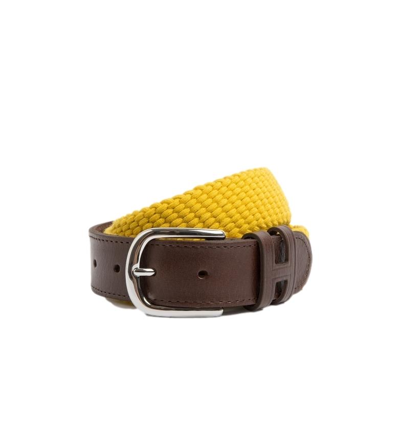 Comprar HACKETT Parachute leather belt brown, yellow