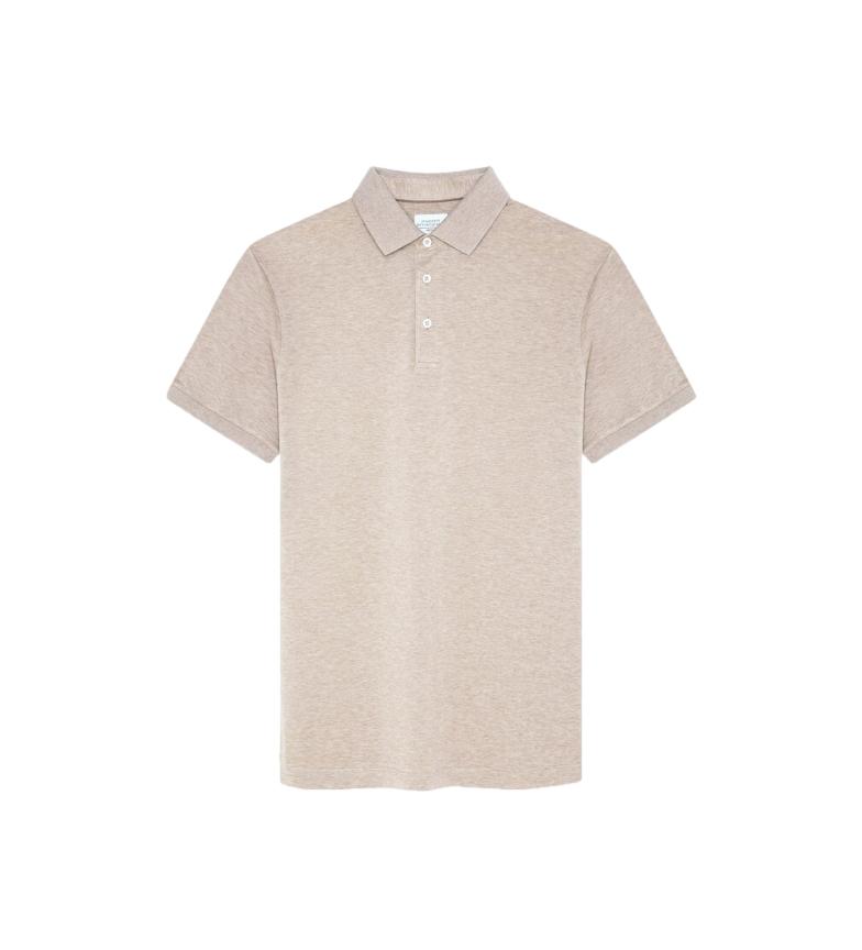 HACKETT Beige piqué polo shirt