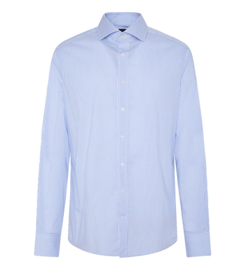 HACKETT Camisa Stretch Stripe BC azul, blanco