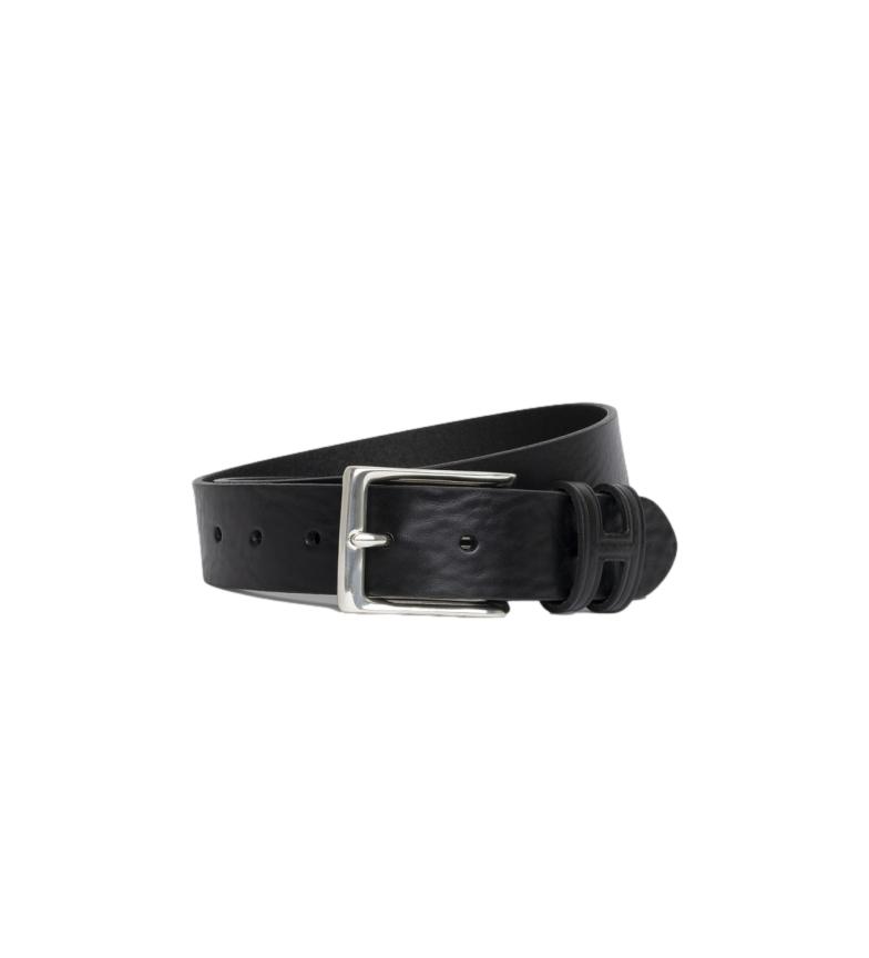 Comprar HACKETT Cintura in pelle con cuciture a punto H Keeper nera