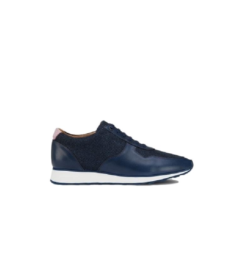HACKETT Sneakers in pelle tweed blu navy Navy