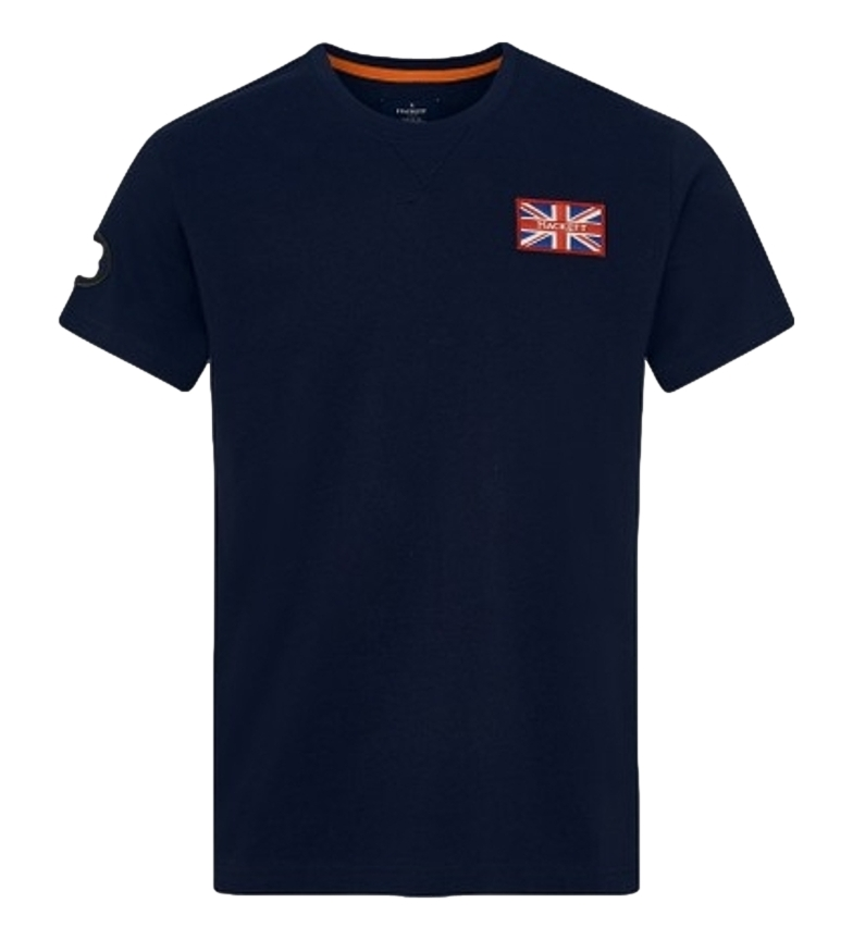 Comprar HACKETT T-shirt blu con stemma GB