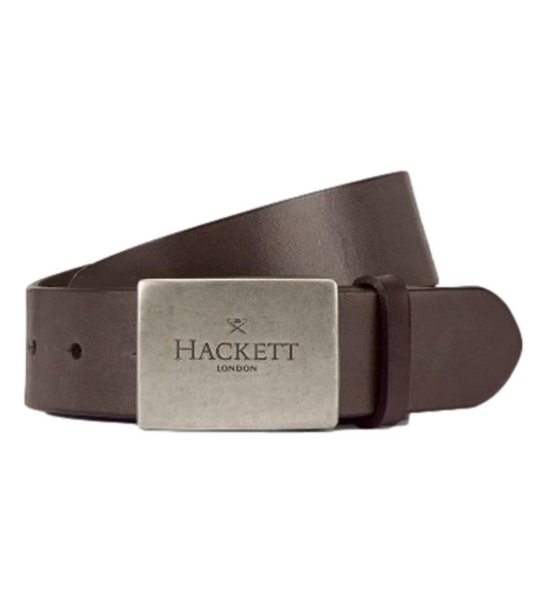 HACKETT Vintage Sand Plaque Brown Belt