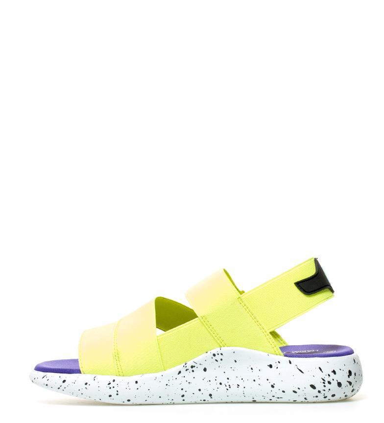 Hakimono Sandalias Omu amarillo fluor