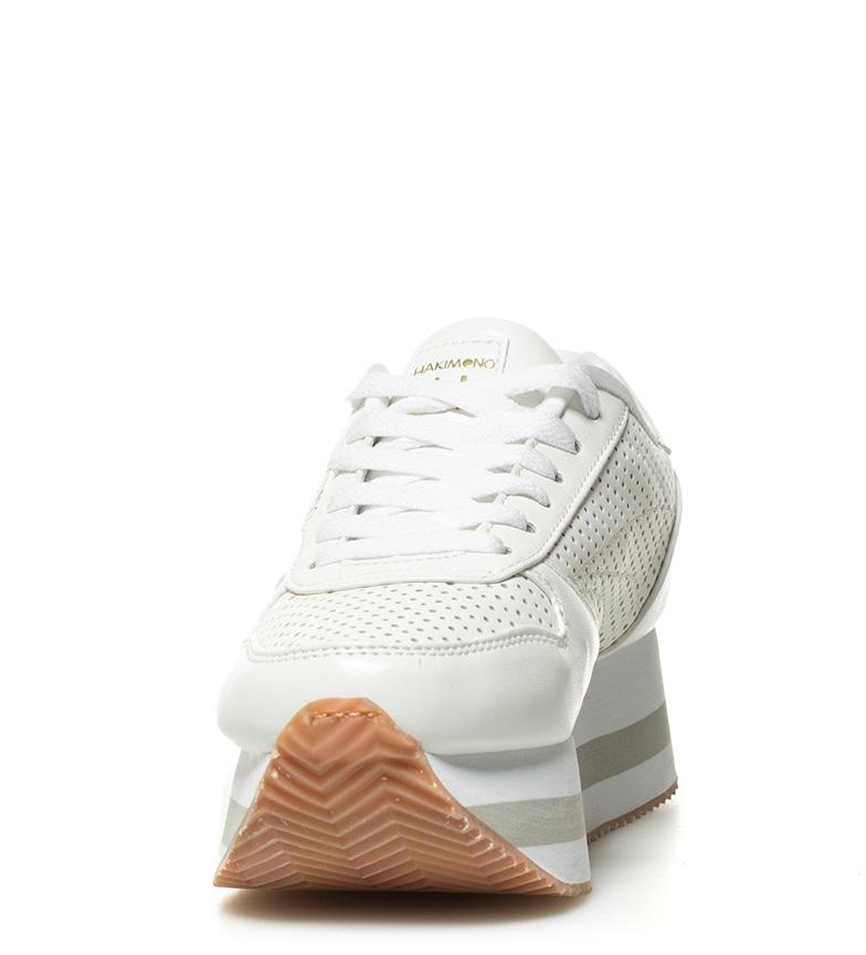blanco Zapatillas plataforma Hakimono Altura 4 Zapatillas 5cm Naoki Hakimono YSYIFE
