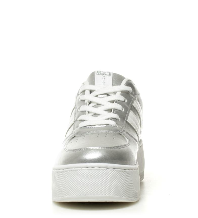 5cm Tayan Hakimono Altura 4 plataforma Zapatillas plata wxYYzrqOB0