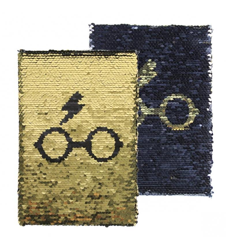Comprar HARRY POTTER Taccuino con paillettes oro premium, blu scuro