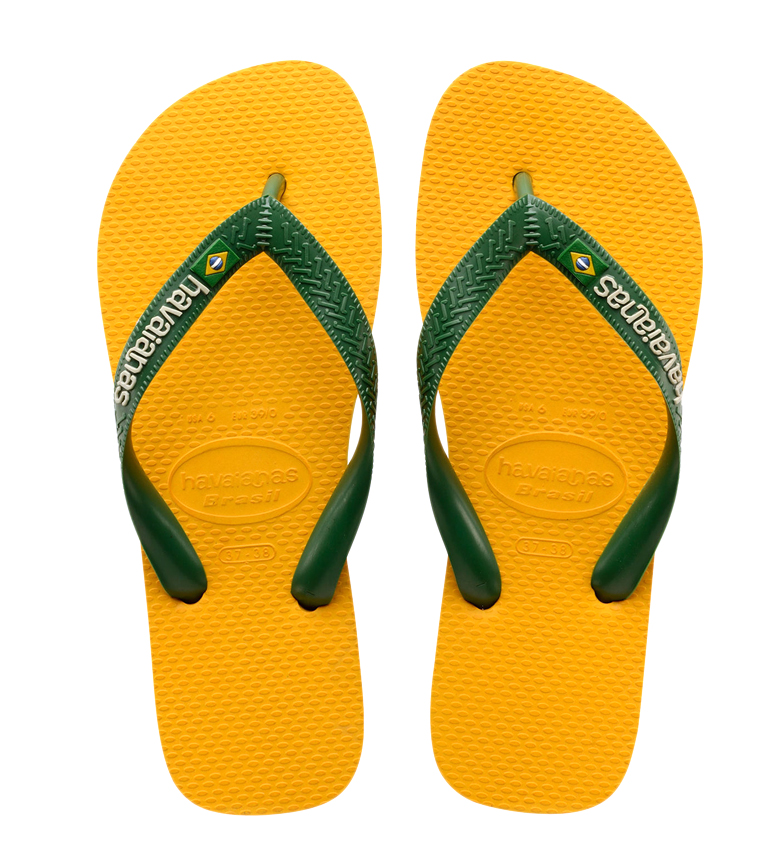 Comprar Havaianas Chanclas Brasil Logo amarillo