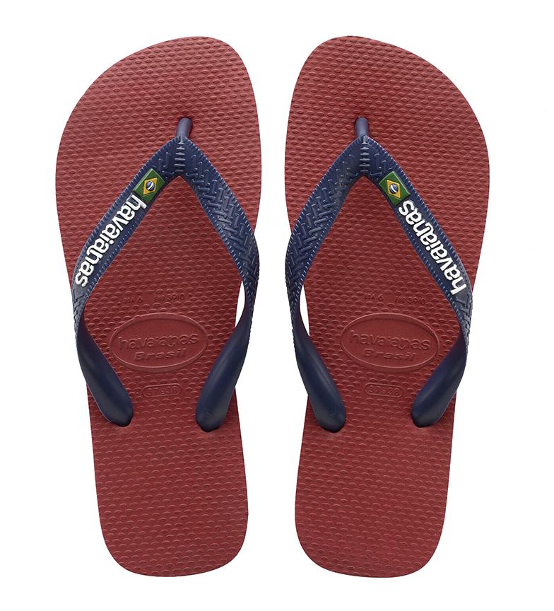 Havaianas Pantofole Brasile Logo rosso