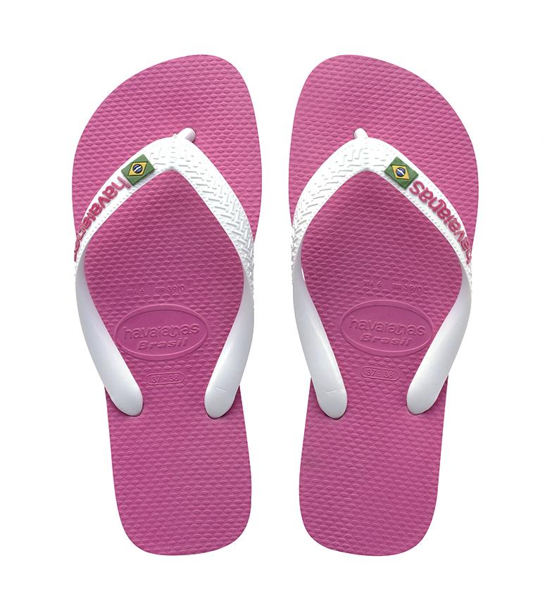 Havaianas Pantofole Brasile Logo rosa