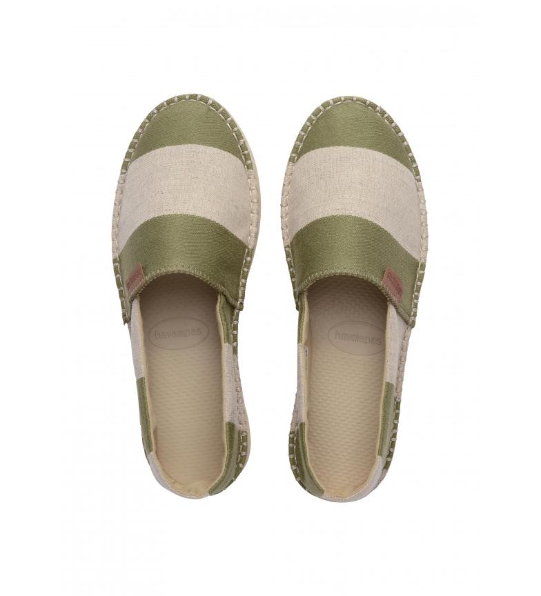 Comprar Havaianas Classic Flatform Eco espadrilles green, beige
