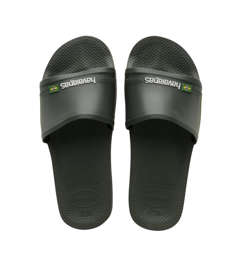 Comprar Havaianas Slide Brasil chinelos de dedo verde