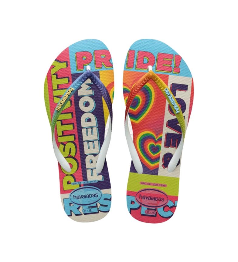 Havaianas Slim Pride Rainbow multicoloured flip flops