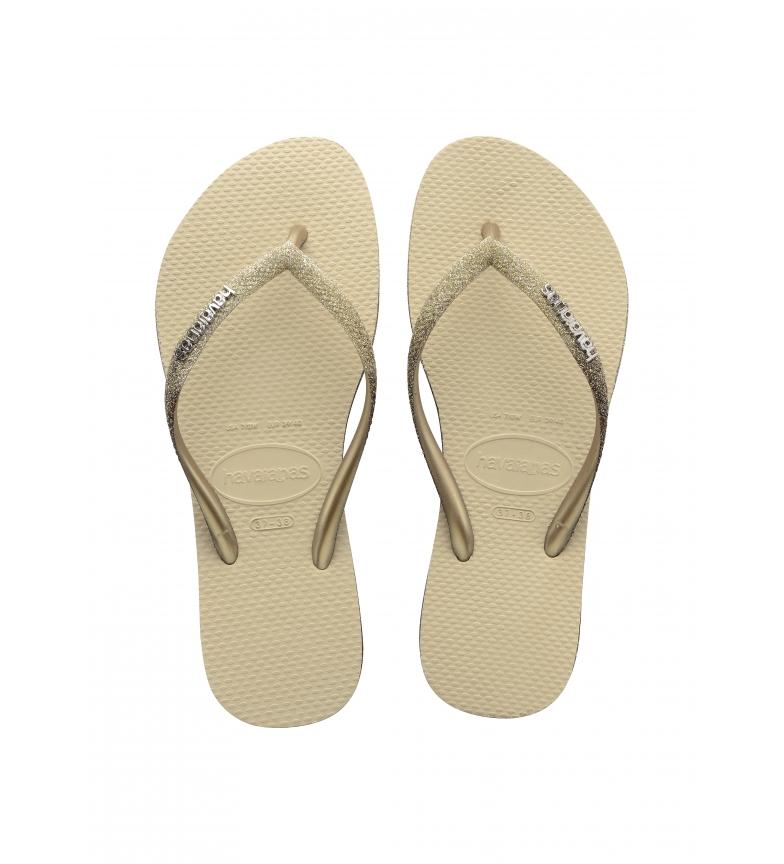 Comprar Havaianas Tongs Slim Sparkle II beige