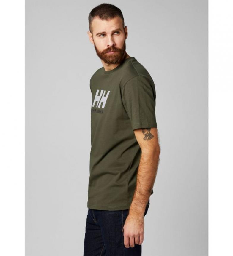 camiseta Hh Kaki Hansen Helly Logo 6gIbY7fyv