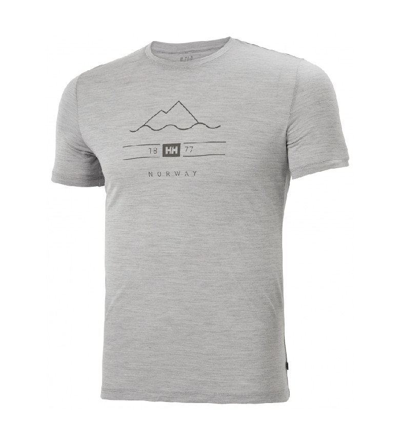 Comprar Helly Hansen Camiseta HH Merino Graphic gris