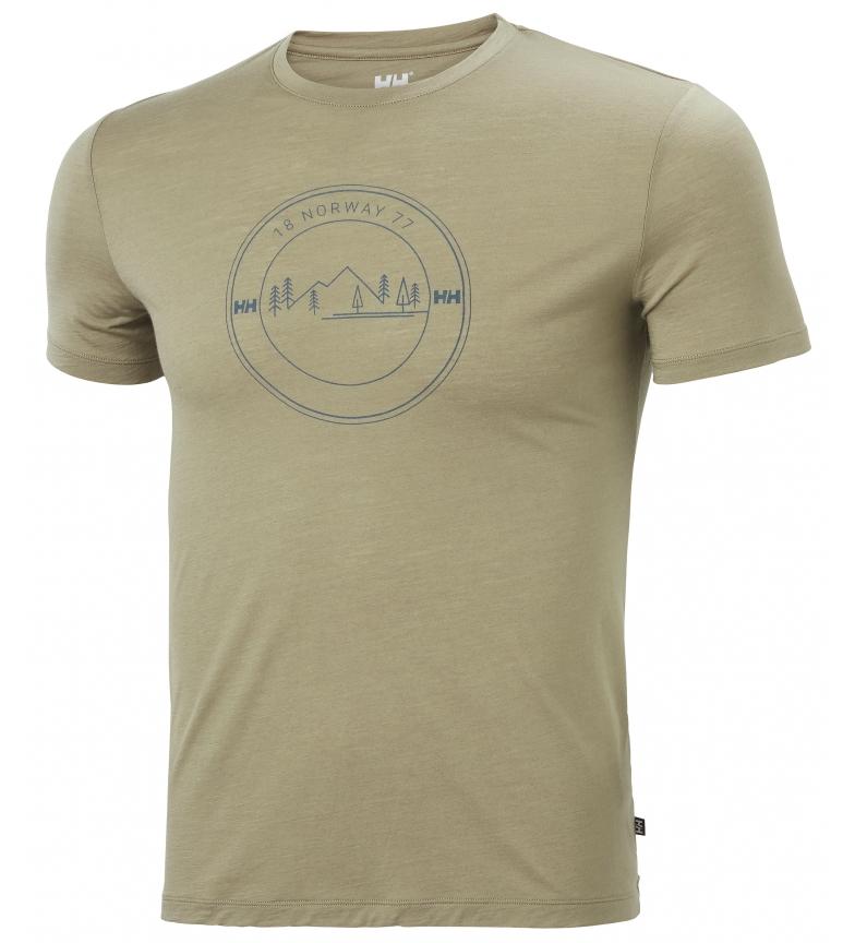 Comprar Helly Hansen Camiseta HH Merino Graphic kaki