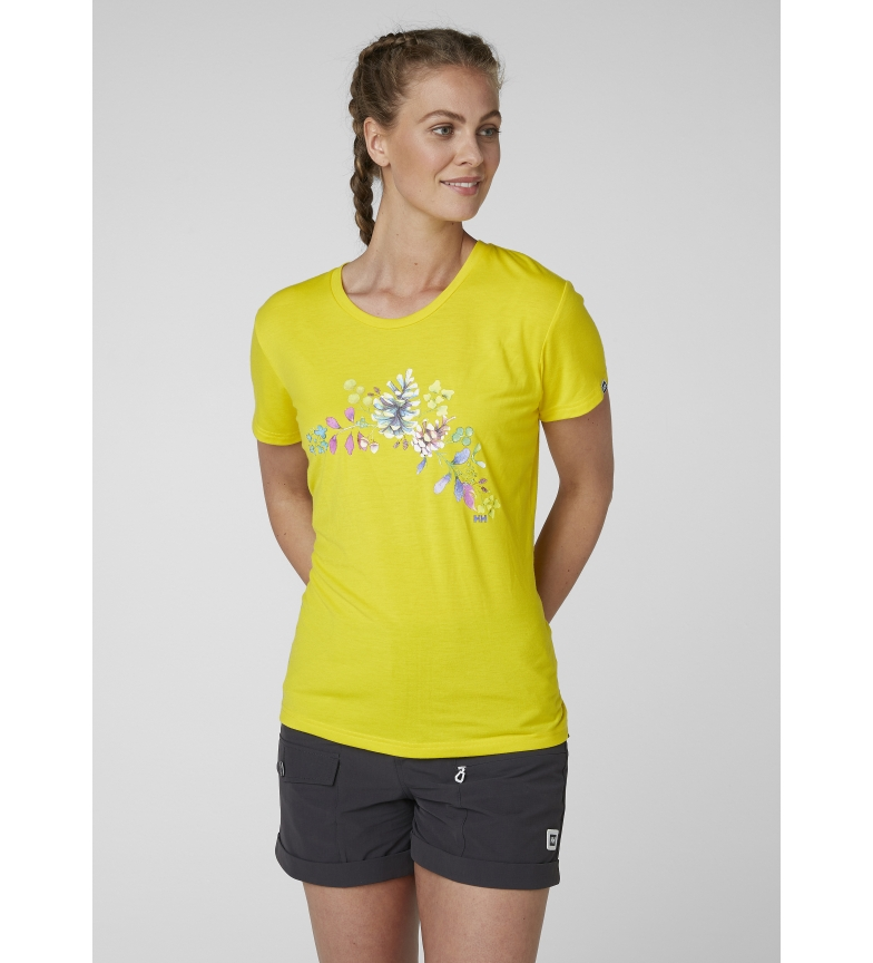 Helly camiseta Hansen Graphic Amarillo Skog QhstdCr