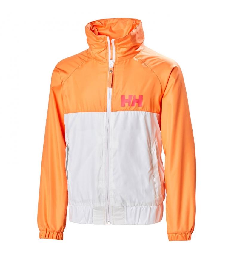 Comprar Helly Hansen JR Active Windbreaker white, orange / DWR / YKK /