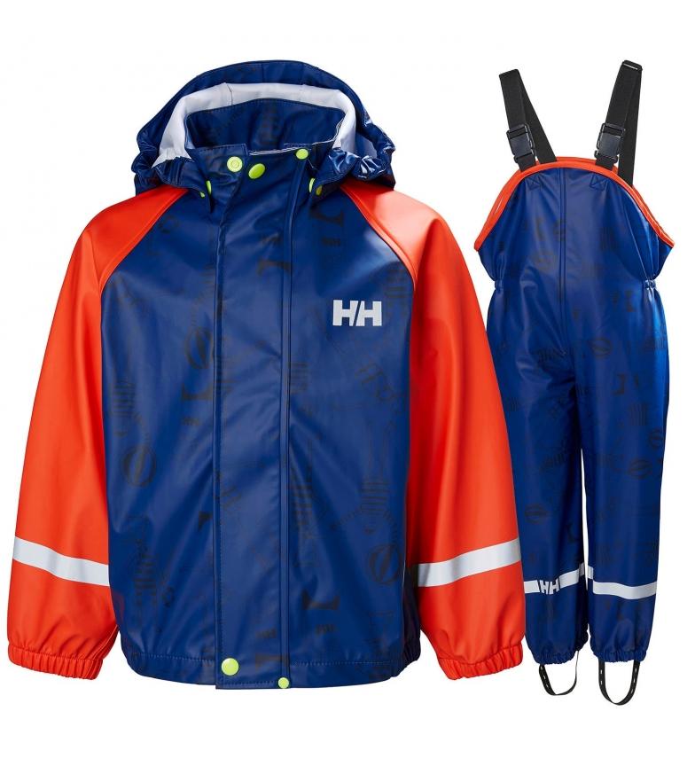 Comprar Helly Hansen Impermeabile K Bergen AOP PU set blu, arancione / Helox +