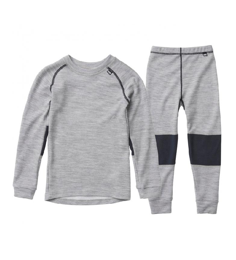 Comprar Helly Hansen Kids HH LIfa Merino camiseta cinza e calças Kids HH LIfa Merino set