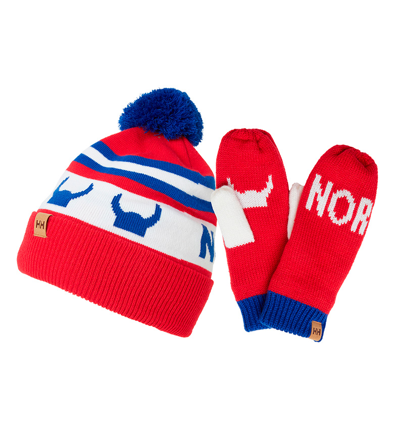 Comprar Helly Hansen Going for Gold red hat and gloves pack