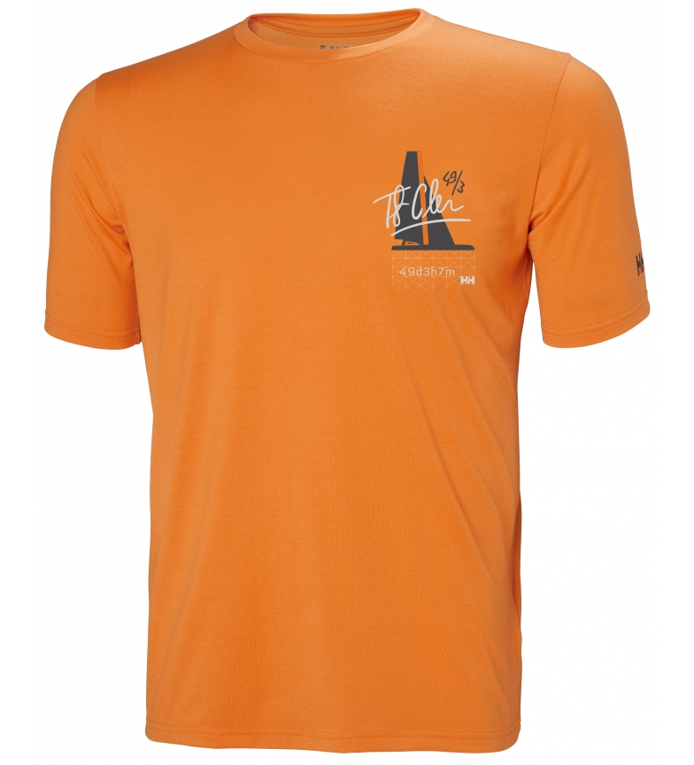 camiseta Racing Helly Hansen Hp Naranja MUVqSzp