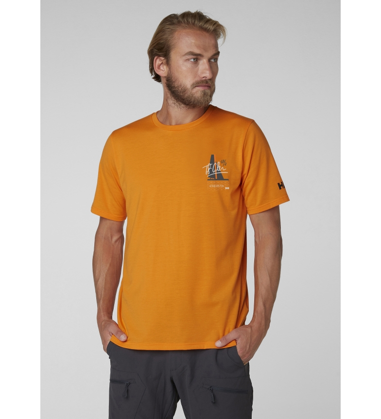 camiseta Racing Hansen Helly Hp Naranja EI29HeDWYb