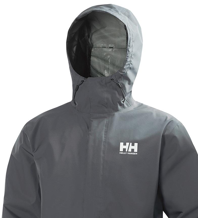 Helly Hansen Chubasquero Seven gris Helly Tech