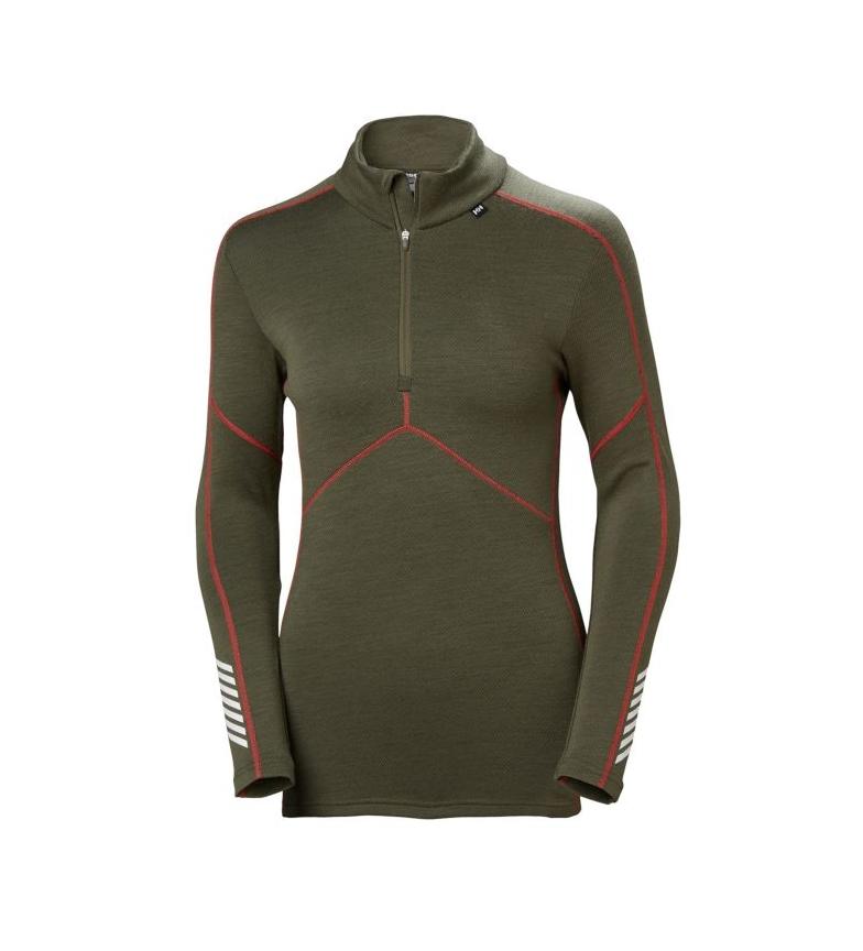 Comprar Helly Hansen Camiseta térmica W HH Lifa Merino 1/2 ZIP kaki
