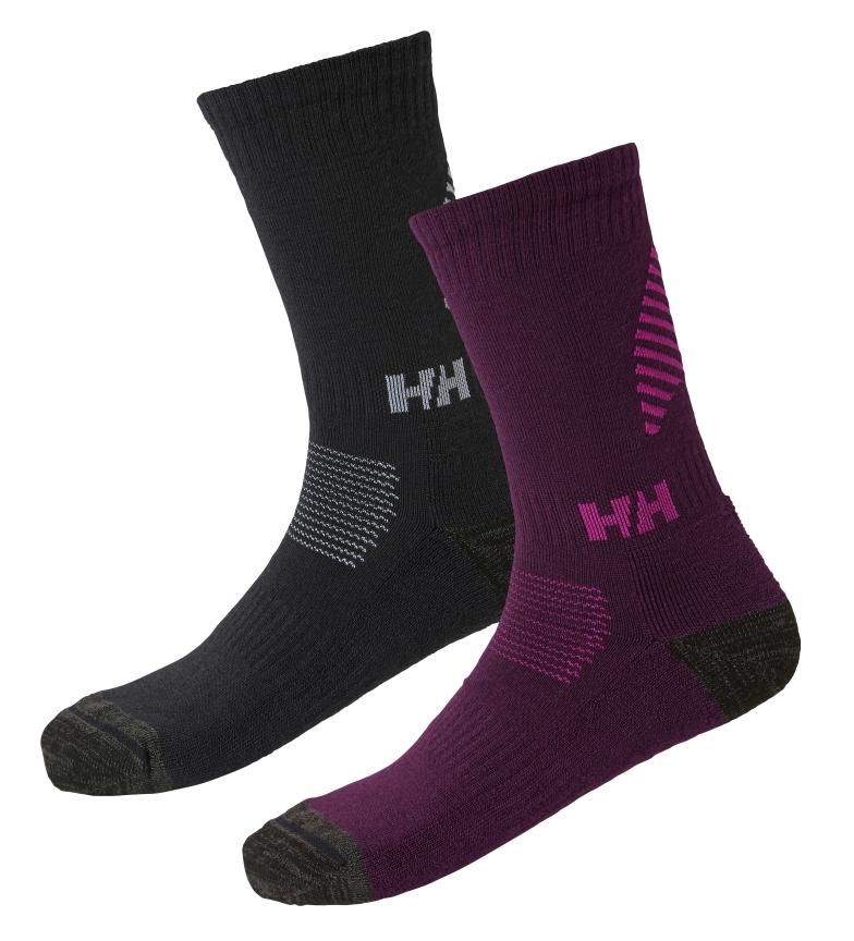 Comprar Helly Hansen Pacote de duas meias Lifa Merino roxo