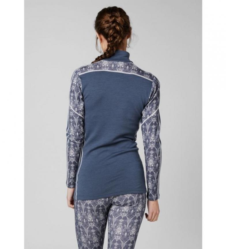 W camiseta Trmica Merino 1 2 Helly Z Azul Hansen Hh Lifa Graphic 54ARjL