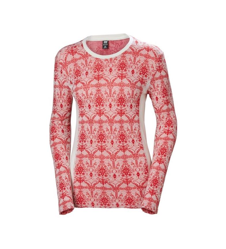 Comprar Helly Hansen T-shirt thermique W HH Merino MID Graphic LS rouge, blanc