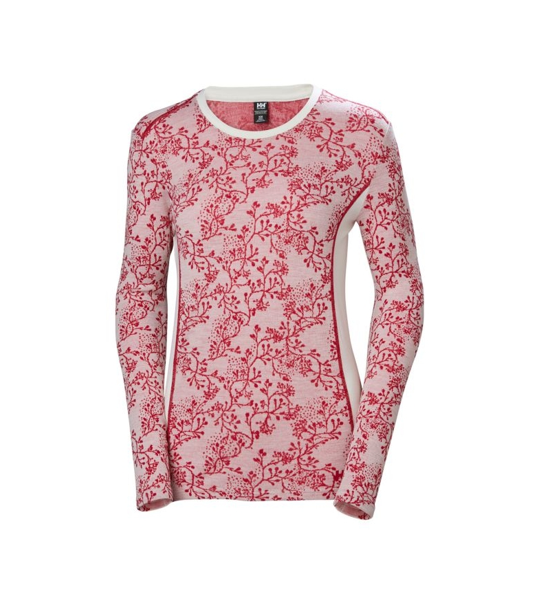 Comprar Helly Hansen Maglietta termica W HH Merino MID Graphic LS rosso, bianco